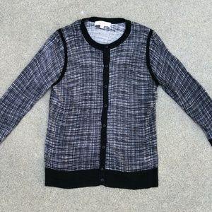 LOFT Women's Light Button Down Cardigan Sweater XL